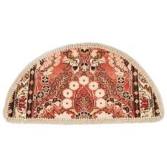 Traditional Carpet Door Mat, Refurbish Handmade Rug Wool Entrance Way Floor Mat