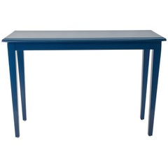 Traditional Console Table in Blue Lacquer