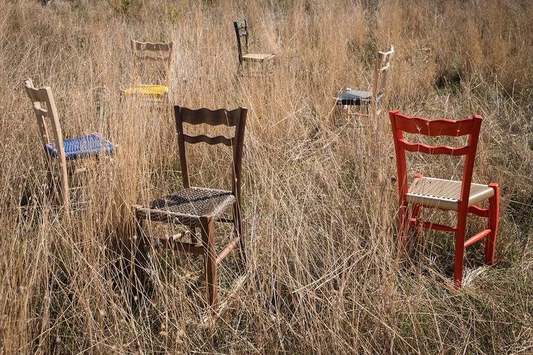 Traditional Countryside Italian Walnut Wood Chair