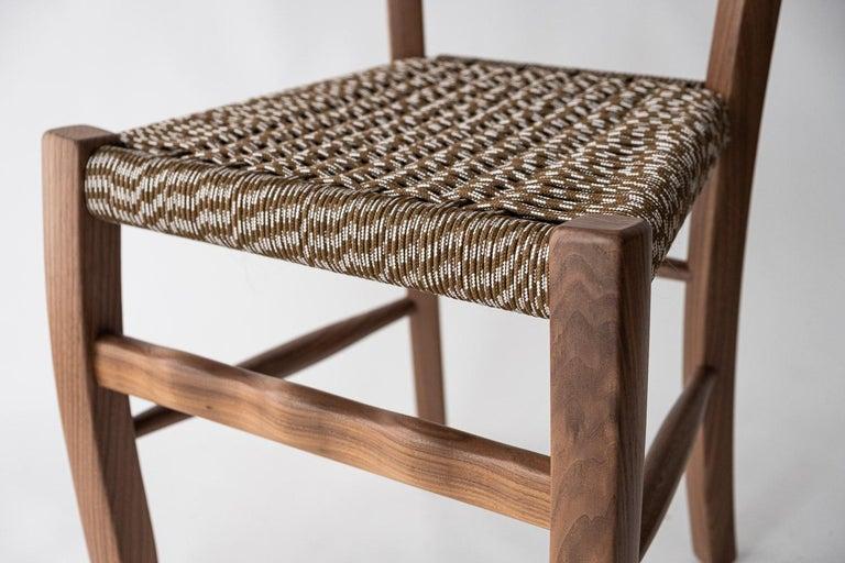 Woodwork Traditional Countryside Italian Walnut Wood Chair