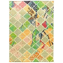 Traditional Design Multicolored Handmade Wool Rug