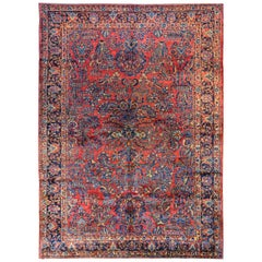 Traditional Early 20th Century Sarouk Rug