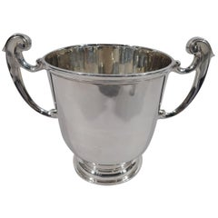 Traditional English Sterling Silver Urn Trophy Cup with Heavy Weight