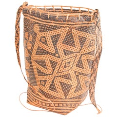 Traditional Ethnic Woven Ajat Basket Borneo Indonesia