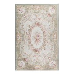 17th Century Traditional French Aubusson Style Flat-Weave Rug