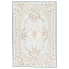 Traditional French Aubusson Style Flat-Weave Rug