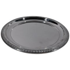 Traditional Georgian-Style Sterling Silver Tray by Cartier
