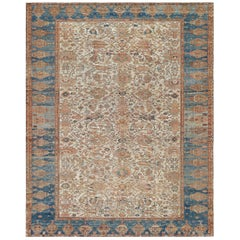 Traditional Handwoven Wool Persian Ziegler Sultanabad Rug