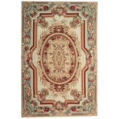 Traditional Handwoven Carpet Wool Aubusson Style Tapestry Area Rug