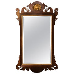 Traditional Henkel Harris Mahogany Neoclassical Mirror