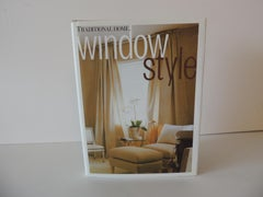 Traditional Home Window Style Decorative Book