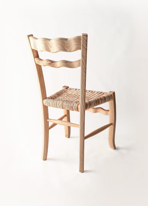 Mid-Century Modern Traditional Italian Ashwood Chair