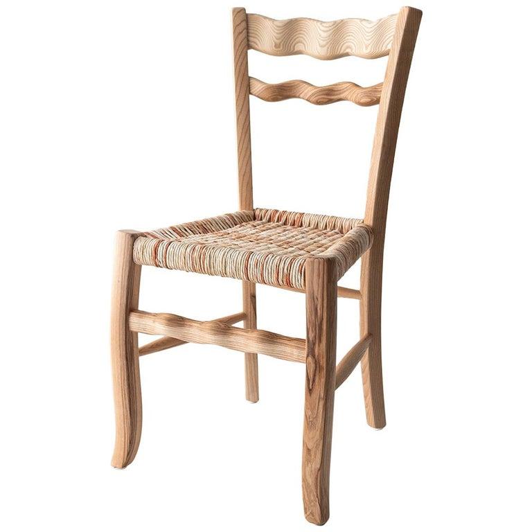 "Traditional Italian Ashwood Chair ""A signurina - Nuda 01"" For Sale"