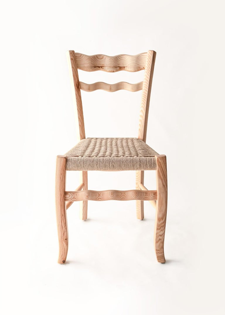 """The vernacular archetype of the countryside chair has been redesigned by the Italian designer Antonio Aricò and made by MYOP, a Sicilian based family company, known around the world for its eclectic approach to craftmanship furniture and design. """"A"""