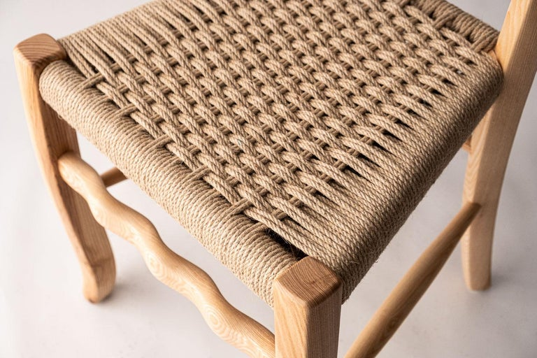Hand-Knotted Traditional Italian Wooden Chair
