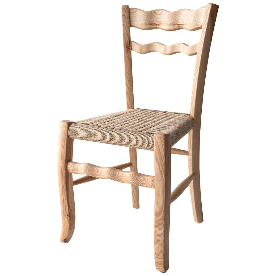 "Traditional Italian Wooden Chair ""A signurina - Nuda 00"""