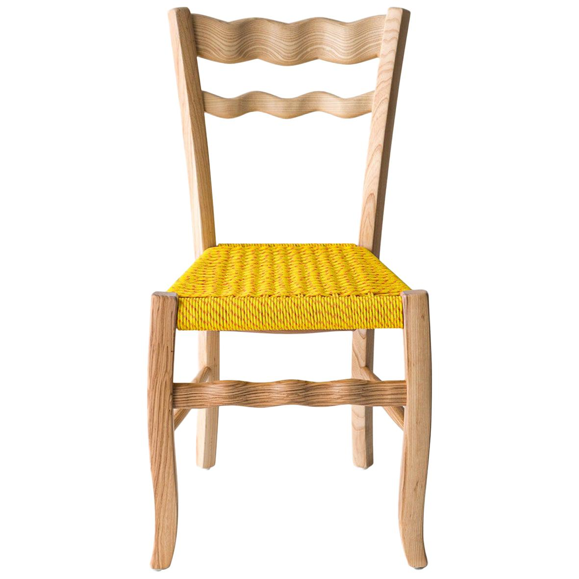 """Traditional Italian Wooden Chair """"A Signurina - Sole"""""""