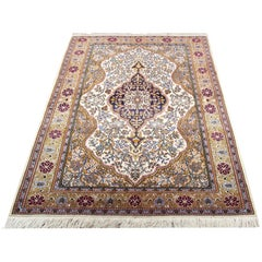 Traditional Ivory Oriental Carpet Medallion Area Rug
