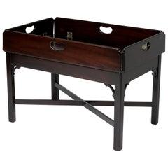 Traditional Kittinger Furniture Craftsmen Mahogany Drop-Leaf Butler Table
