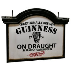 Traditional Large Guiness Hanging Pub Light from the 1950s