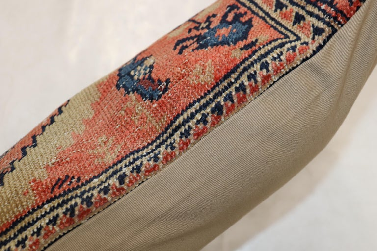 Sultanabad Traditional Long Antique Persian Rug Pillow For Sale