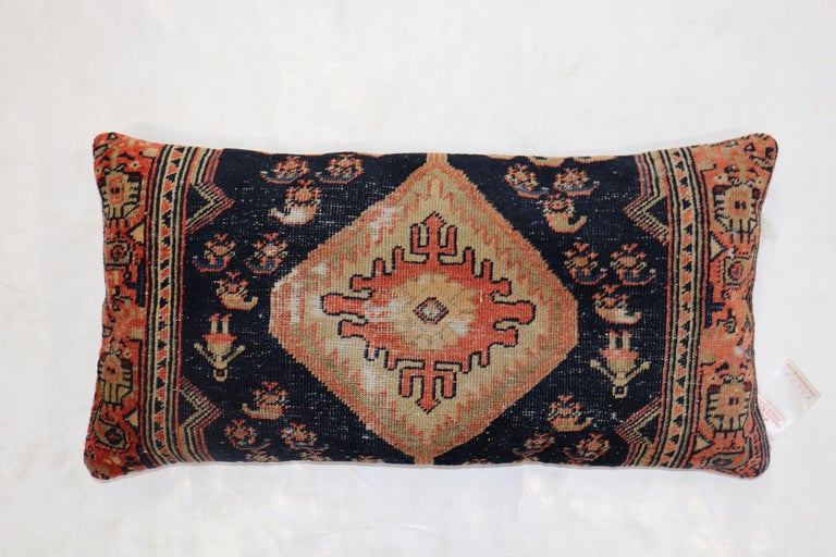 Traditional Long Antique Persian Rug Pillow In Fair Condition For Sale In New York, NY