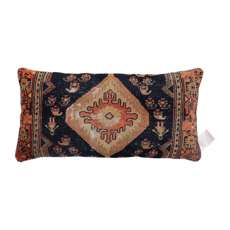 Traditional Long Antique Persian Rug Pillow For Sale