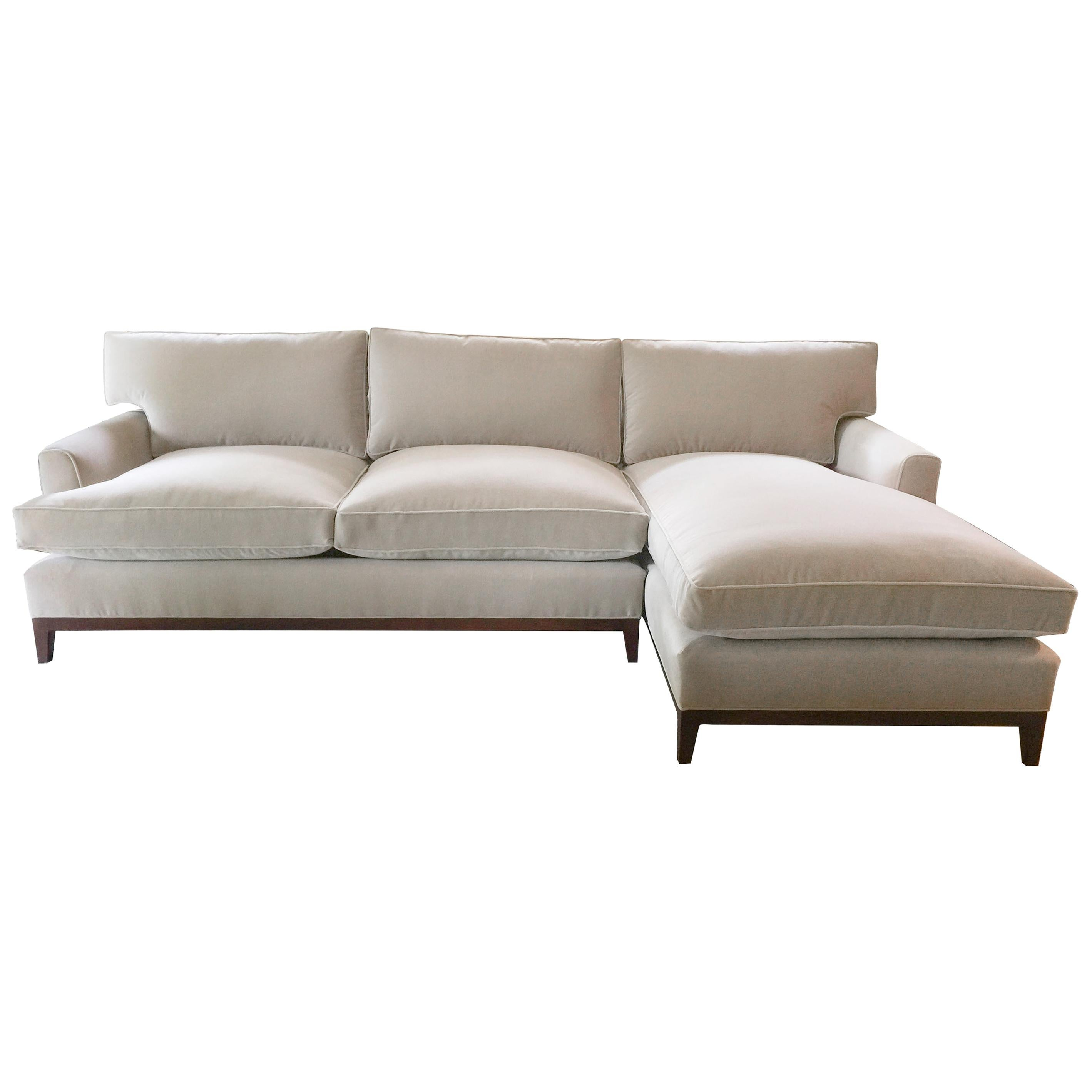 Traditional Love Seat with Chaise
