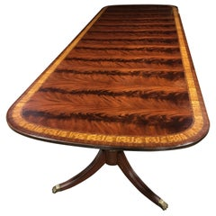 Traditional Mahogany Georgian Style Dining Table by Leighton Hall