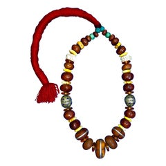 Traditional Moroccan Berber Wedding Celebration Necklace with Fertility Beads