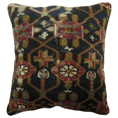 Traditional Navy Persian Rug Pillow