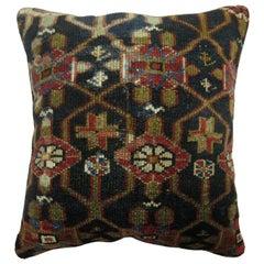 Traditional Navy Persian Rug Pillow