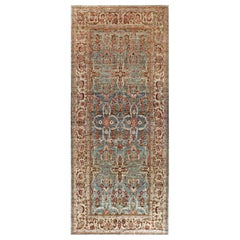 Traditional Oriental Inspired Rug in Pink, Orange, Red, Gold, Brown and Green