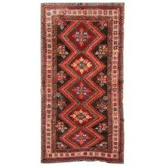 Traditional Oriental Rug, Handmade Carpet Runner, Wool Antique Rug for Sale