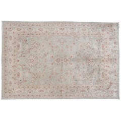 Traditional Pakistani Area Rug in Light Sage Green