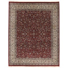 Traditional Pakistani Persian Style Rug with English Manor Tudor Style