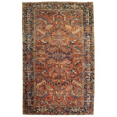 Traditional Persian Heriz Intermediate Rug