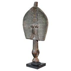 Traditional Primitive Tribal Art Bakota Reliquary Figure from Gabon, Africa