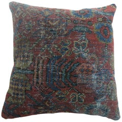 Traditional Red Blue Persian Pillow