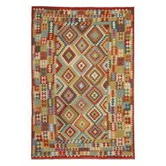 Traditional Rugs Design, Afghan Kilim Rugs, Handwoven Kilim Carpet