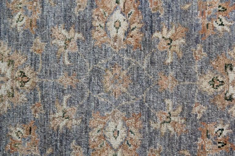 Sarouk Farahan Traditional Runner Rug Carpet Runner of Rug Area Blue Afghan Rug For Sale