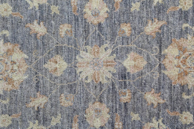 Traditional Runner Rug Carpet Runner of Rug Area Blue Afghan Rug In Excellent Condition For Sale In Hampshire, SO51 8BY