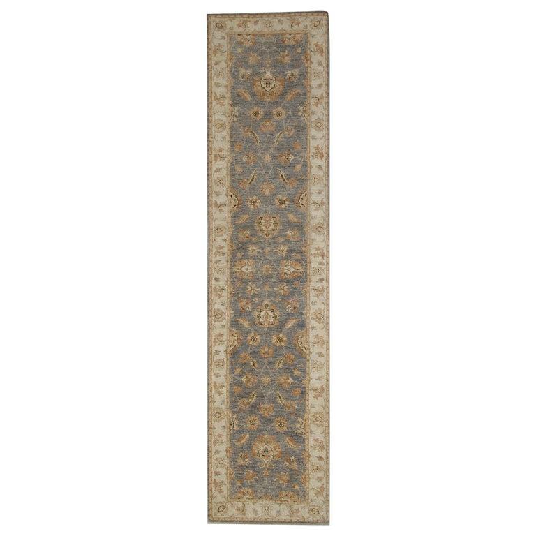 Traditional Runner Rug Carpet Runner of Rug Area Blue Afghan Rug For Sale