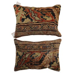 Traditional Set of Persian Mahal Lumbar Size Rug Pillows