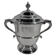 Traditional Sterling Silver Covered Urn Trophy Cup by Ensko