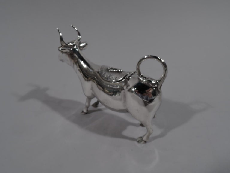 American Traditional Sterling Silver Cow Creamer For Sale