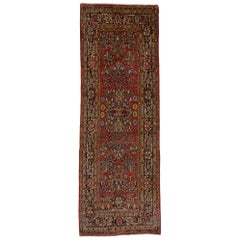 Traditional Style Antique Persian Mahal Runner, Wide Hallway Runner