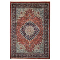 Traditional Style Vintage Area Rug with Persian Design