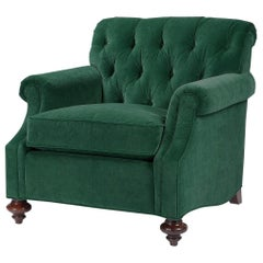 Traditional Upholstered Club Chair
