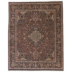 Traditional Vintage Persian Style Rug with All-Over Floral Motif